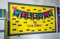 welcome to our class chalkboard brights bulletin board kindergarten bulletin boards preschool
