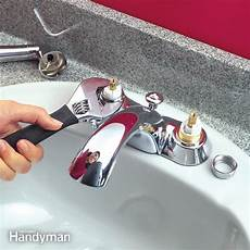how to fix kitchen faucet leak quickly fix a leaky faucet cartridge the family handyman