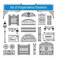 bilder mit metallelementen forged metal signboards set royalty free vector image