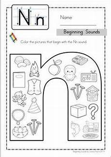 letter n phonics worksheets 24159 beginning sounds color it lowercase version beginning sounds jolly phonics phonics