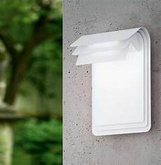 modern folded white steel outdoor led wall light 93256