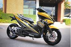 Aerox Kuning Modif by Modifikasi Yamaha Aerox Kuning Warungasep