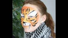 tiger painting tutorial easy tiger makeup