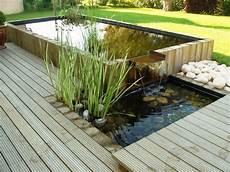 fontaine de terrasse bassin int 233 gr 233 dans une terrasse bois cr 233 ation les