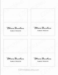 tent card template word mac printable place card avery 5302 template instant