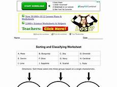 sorting and classification worksheets 7771 sorting and classifying worksheet worksheet for 4th 5th grade lesson planet
