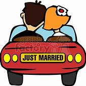 Royalty Free Just Married Car 146117 Vector Clip Art Image