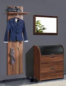 garderobe nussbaum garderobe nussbaum 3 teilig garderobenset wandpaneel