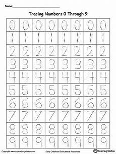 learning numbers worksheets 18743 tracing numbers 0 through 9 numbers preschool preschool writing writing numbers