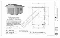 plan garage 20m2 g443 14 x 20 x 10 garage plans blueprints downloadable