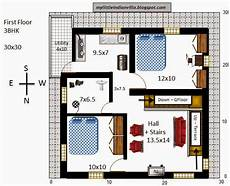 north facing duplex house plans my little indian villa 33 r26 3bhk duplex in 30x30
