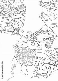 Regenbogenfisch Ausmalbilder Malvorlagen Der Regenbogenfisch Malvorlagen