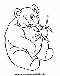 Ausmalbilder Tiere Panda Ausmalbild Panda 1 Zum Ausdrucken