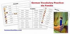 german vocab worksheets 19738 german family vocabulary practice die familie homeschool den
