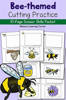 bee cutting practice worksheets the bee tree mamas learning corner
