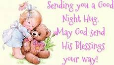 good night sending you a good night hug may god send his blessings
