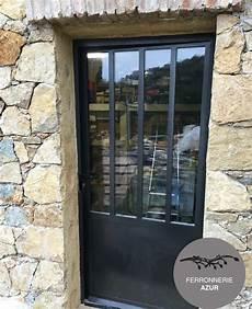porte d entrée en metal porte en fer et verre style atelier ferronnerie 224 cannes