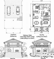 piling house plans piling collection pg 2104 1250 sq ft 2 bedrooms 2