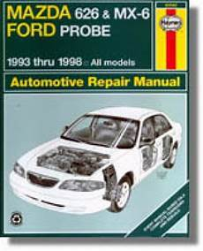 free online auto service manuals 1993 mazda mx 3 security system 1993 2001 mazda 626 mx 6 ford probe haynes repair manual