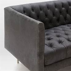 modern chesterfield leather sofa 201 cm west elm uk