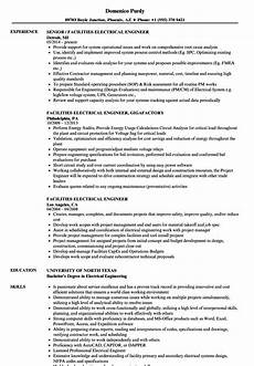 facilities electrical engineer resume sles velvet
