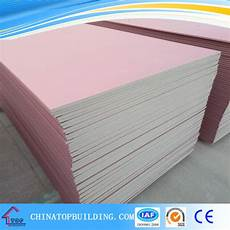 china fireproof gypsum board pink color gypsum board