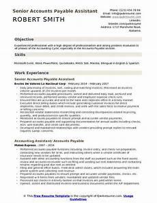 accounts payable assistant resume sles qwikresume