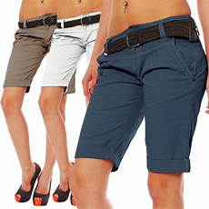 fresh made damen chino shorts lfm 091 bermuda damenshorts