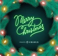 merry christmas neon lights sign vector download
