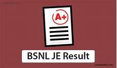 2019 key release date bsnl je result 2019 answer key cut release date