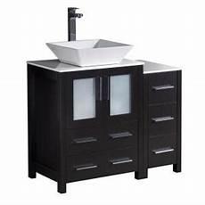 Espresso Bathroom Vanity Home Depot by Fresca Torino 36 In Bath Vanity In Espresso With Glass