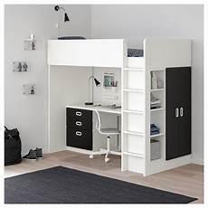stuva fritids loft bed combo w 3 drawers 2 doors white