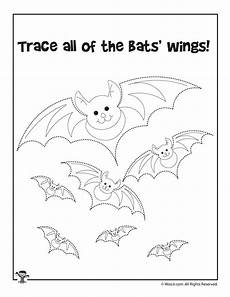 trace and color the halloween bats woo jr kids activities