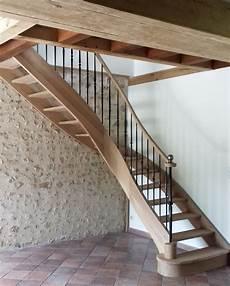 escalier classique en bois et m 233 tal escalier quart