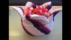 3d origami korb wir basteln aus papier zusammen mit