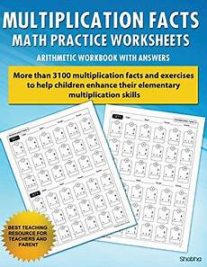 multiplication facts math worksheet practice arithmetic workbook with answers daily practice