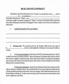 free 7 real estate contract form sles in sle exle format