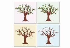 Vier Jahreszeiten Malvorlagen Ninjago Glasbilder Mit Baum Im Fr 252 Hling Sommer Herbst Winter