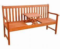 Gartenbank Mit Tisch In Der Mitte - gartenbank sitzbank mit klappbarer tisch garten bank