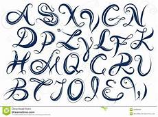 lettere d scritte handwritten alphabet capital letters stock vector