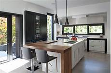 Cuisine Contemporaine Home Kitchens Living Room