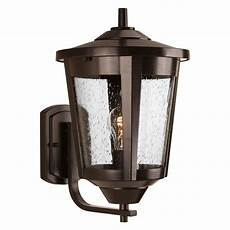 bronze finish outdoor wall light seeded glass outdoor wall light bronze progress lighting