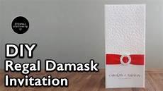diy elegant damask embossed wedding invitation diy wedding invitations youtube