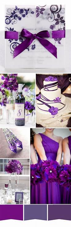 five most popular purple wedding color ideas and wedding invitations