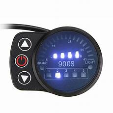 24v 36v 48v 5pin led display speed meter control panel for e bike electric scooter led900s