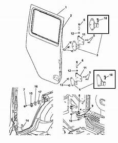 68002361ab Genuine Jeep Door Rear