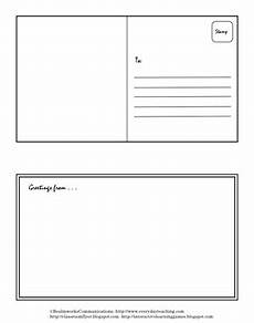 postcard template preschool postcard template lots of opportunities ideas for the