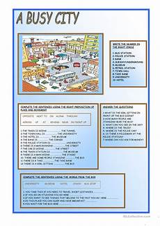 a busy city worksheet free esl printable worksheets made by teachers
