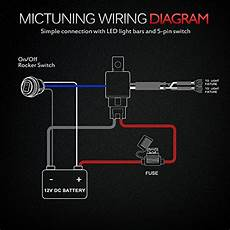 On Led Light Wiring by Mictuning Hd 12 600w Led Light Bar Wiring Harness