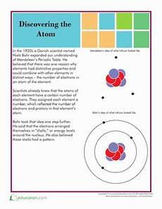 atom structure worksheet education com
